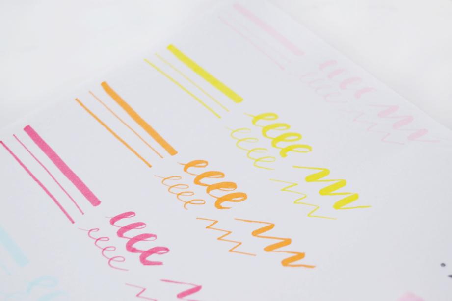 Swatch Lidl Creabox brush pens. Levné štětcové fixy z Lidlu - Creabox brush pens. Test, recenze a srovnání.